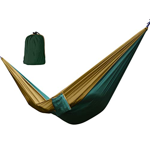 WXGM Hamac extérieur en Toile de Parachute Respirant et Confortable, résistant (Couleur : Green, Taille : 270×140CM)