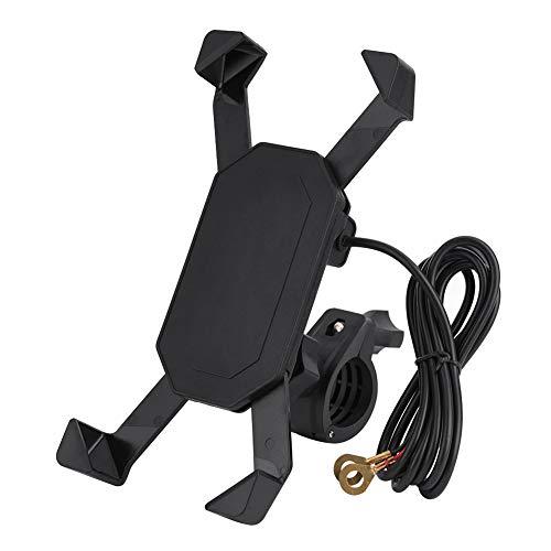 Telefoonmontagehouder, motorfietsfiets ATV-stuur E-montagestandaard ABS-materiaal voor mobiele telefoon GPS