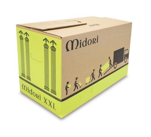 10x Profi Umzugskartons Midori XXL 660 x 360 x 405mm 50Kg Belastbarkeit 2-WELLIG
