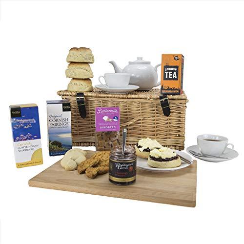 Luxury Cornish Cream Tea Hamper, Landscape Printed Carton