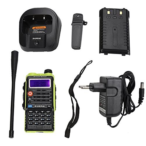 BrysonKally Wireless Walkie Talkie BF-uvb2 Plus Wireless Bidirezionale VHF Radio Walkie Talkie con Batteria agli Ioni di Litio UK 100-240v Portatile Walkie Talkie