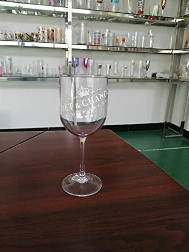 HTRTH 2 unids Fiesta de Vino Blanco Champagne cupes cóctel Vidrio Champagne flautes Vino Taza de Copa Platos plástico Cerveza Vidrio Vidrio Tazas de Whisky 805 (Color : 2pcs Clear)