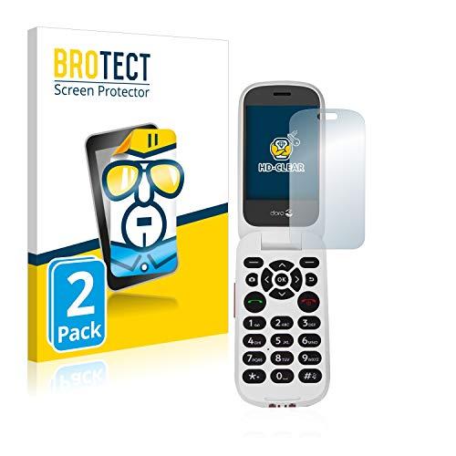 BROTECT Schutzfolie kompatibel mit Doro 7060 (Inneres Bildschirm) (2 Stück) klare Bildschirmschutz-Folie