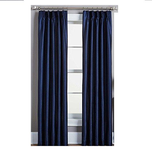 Peri Spellbound Pinch-Pleat 84-Inch Rod Pocket Lined Window Curtain Panel in Indigo