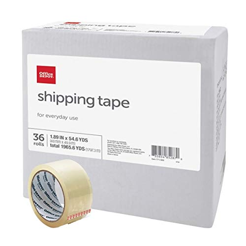 Office Depot Brand Shipping Tape, Multipurpose, 1.89