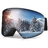 RUNACC Gafas de Esquí para Hombre y Mujer Gafas de Snowboard con Anti-Niebla y Tratamiento de Protección UV400 Lentes Gran Angular y Esférica