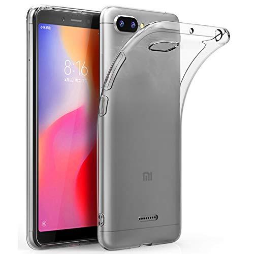 Verco Handyhülle für Xiaomi Redmi 6a Hülle, Handy Cover für Xiaomi Redmi 6a Hülle Transparent Dünn Klar Silikon, durchsichtig