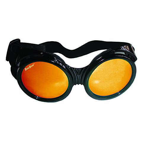 ArcOne The Fly Safety Goggles - Full Coverage Round Lens (Smoke Lens with Yellow/Orange Mirror Finish)