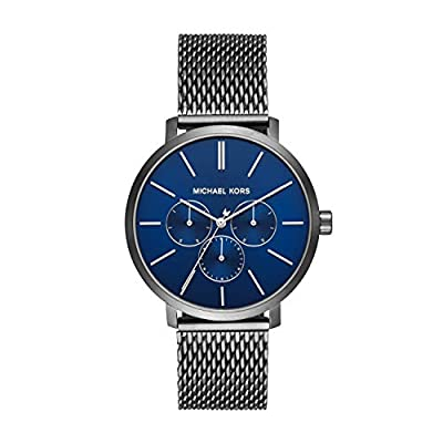 Michael Kors Men's Blake Stainless Steel Quartz Watch with Nylon Strap, Multi, 20 (Model: MK8713)