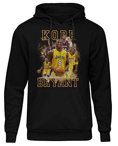 Uglyshirt89 Kobe Bryant Männer Herren Kapuzenpullover | Sport Basketball Black Mamba (S)