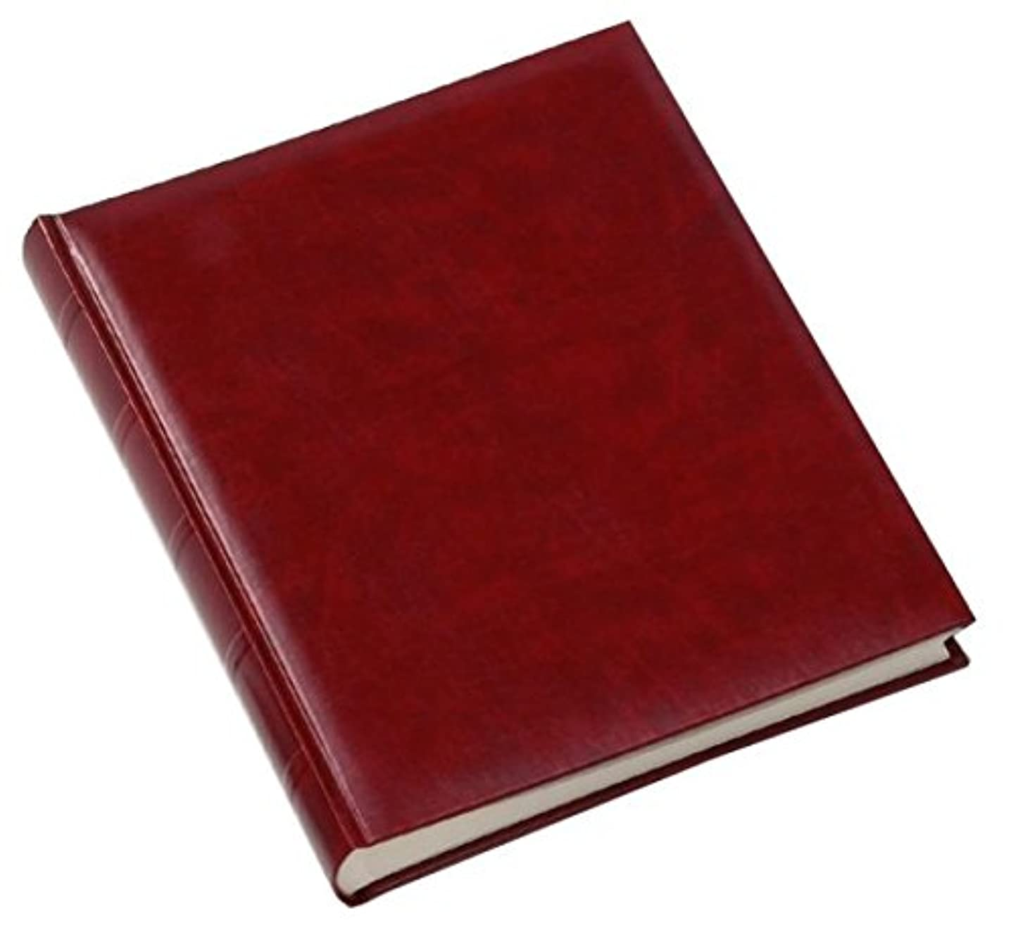 Walther design FA-373-R Classic artificial leather book bound album with ridged spine, 11.75 x 14.5 inch (30 x 37 cm), 80 white pages, red