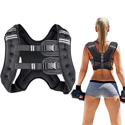 Prodigen Running Weight Vest for Men Women Kids 20 Lbs, Body Weight Vests for Training Workout, Jogging, Cardio, Walking, Elite Adjustable Weighted Vest Workout Equipment-Black,20lbs