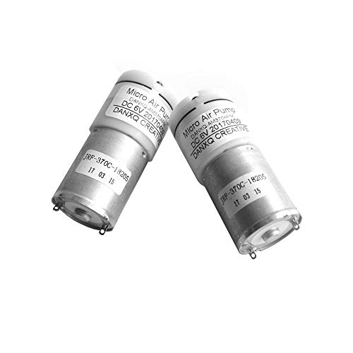 DANXQ Neu gemacht Mikro Elektrische Membranpumpe,DC 5V / 6 Volt 370 Motor Mini-Luftpumpe, 2 Stück/Pack