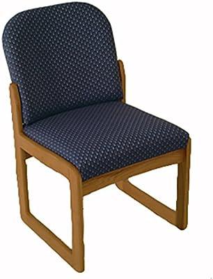 Wooden Mallet DW8-1 Prairie Armless Guest Chair, Medium Oak/Black