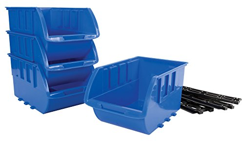 Performance Tool W5196 4 Piece Large Stackable Storage Trays