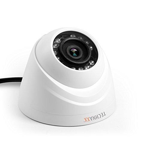Technaxx 4563 Zusatzkamera Dome zum Mini Kit PRO TX-49, White