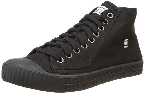 G-STAR RAW Herren Rovulc Denim Mid Hohe Sneakers, Schwarz (Black 990), 42 EU
