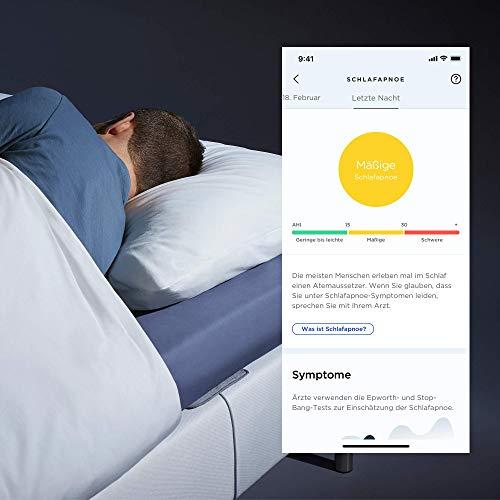 Withings Sleep Analyzer – Klinisch validierter Schlaftracker für unter die Matratze mit Schlafapnoe-Erkennung und Schlafphasenanalyse - 4