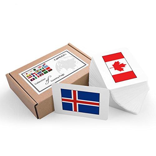 CARDDIA Colección de Banderas de País (Juego Completo Premium)