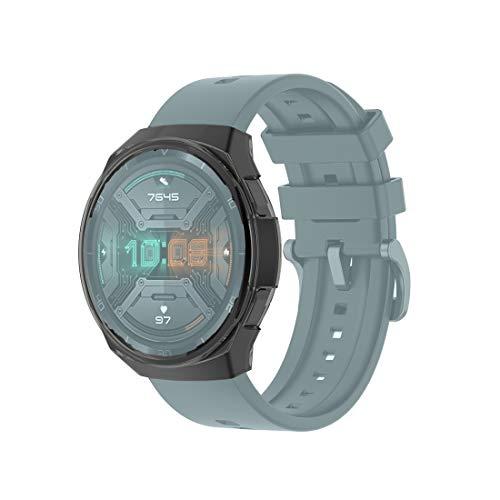 BZN Smart Watch Case per Huawei Watch GT 2E TPU TPU Custodia in Silicone in Silicone TPU (Color : Transparent Black)