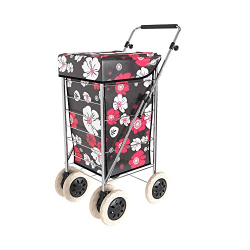 Shopping Trolley on Wheels | Alexander Graham New Exclusive 6 Wheel Model | New Easy Fold Frame | Large Shopping Cart with Front Swivel Wheels Makes it Light and Easy to Use Great for Mobility