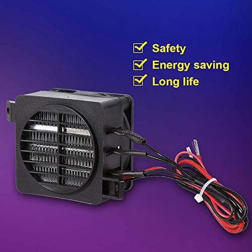 dgtrhted Calentador de Aire de Ventilador de Coche PTC de Ahorro de energía de 100 W 12 V Calentadores de Elemento Calefactor de Temperatura Constante