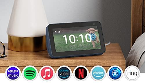 Der neue Echo Show 5 (2. Generation, 2021)   Smart Display mit Alexa und 2-MP-Kamera   Blau