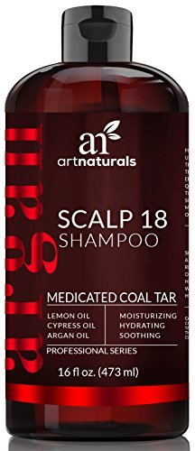 ArtNaturals Therapeutic Argan Anti-Dandruff Shampoo - (16 Fl Oz / 473ml) - Natural and Organic Coal Tar with Argan Oil - Treatment Helps Anti-Itchy Scalp, Symptoms of Psoriasis, Eczema - Sulfate Free