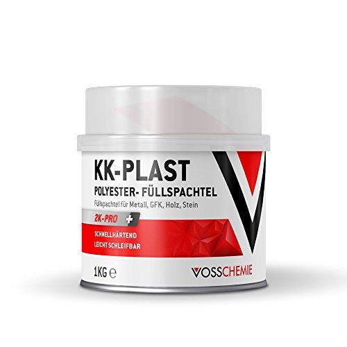 Vosschemie KK-Plast Füllspachtel 1.000g - 2K Polyesterspachtel mit besonders guten Fülleigenschaften