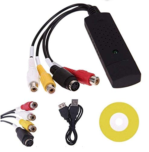 Jambuwala Enterprise USB 2.0 Easycap Audio and Video Capturing Device Directly from TV Dc60 Tv DVD VHS Video Adapter Capture Card Audio Av Capture Support Windows Xp/7/Vista 32