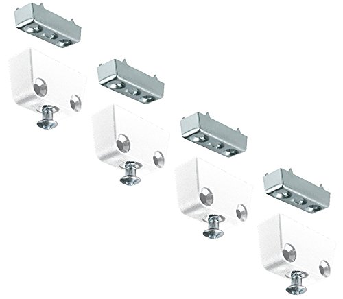 Secotec 105030027 Schrankverbinder Trapez Kunststoff weiß 4 Stück+LL3:L209