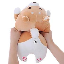 Shiba Inu Dog Plush Pillow, Cute Soft Corgi Stuffed Animals Doll Toys Gifts for Valentine, Christmas, Birthday, Bed…