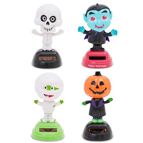 Halloween Solar Dancing Figures, Novelty Toys (4 Pack)