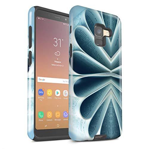 eSwish Phone Case/Cover/Skin/SG-3DTBG / Abstract Art Collection Samsung Galaxy A8 2018 Boeken/papieren bloem