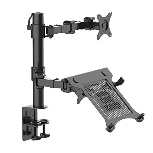 BIGER Adjustable Computer Monitor Arm Desktop Mount Stand Workstation Support Bracket Holder (Laptop & Monitor)