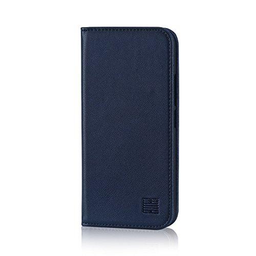 32nd Klassische Series - Lederhülle Hülle Cover für Motorola Moto G5S, Echtleder Hülle Entwurf gemacht Mit Kartensteckplatz, Magnetisch & Standfuß - Marineblau