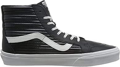 Vans Men's Hi-Top Trainers, Black Black Blanc De Blanc Moto Leather, 0
