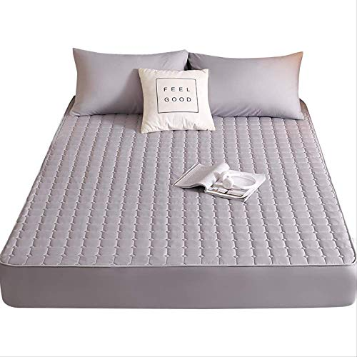 qwqe Beds fixed Sheets Bed cover Symonth mattress protective case single-piece clip cotton waterproof thick anti-moisture anti-slip 180 x 200cm.