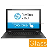Synvy Tempered Glass Screen Protector for HP Pavilion x360 15-br000 / br077cl / br052od / br095ms / br015na / br020ca / br010nr / br077nr / br018na / br000ur 15.6' Visible Area