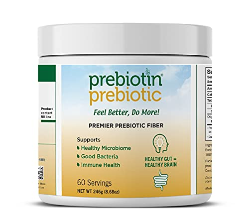 Prebiotin Prebiotic Premier Fiber Powder – 60 Servings - 8.5oz – Supports Total Digestive Health - Oligofructose-Enriched-Inulin from 100% Chicory Root – Enhances Immunity – Gluten Free