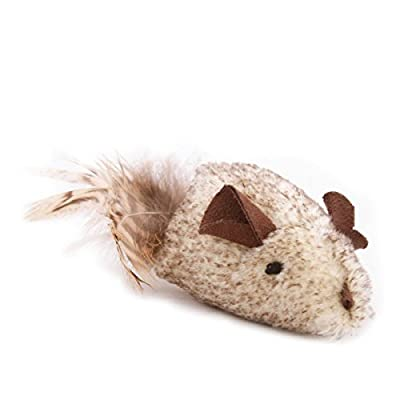OurPets Play-N-Squeak Shake y'r Tail Feather Cat Toy