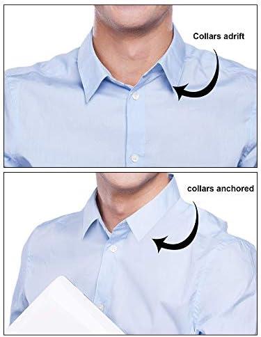 DEZHI 600 Piezas de Ballenas de Cuello de Camisa de Plástico para Camisas de Hombres, 6 Tamaños Mixtos (Transparente)