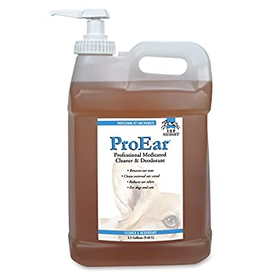 Top Performance ProEar Professional Medicated Ear Cleaners — Versatile and Effective Solution for Cleaning Dog and Cat Ears, 2½ Gallon