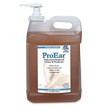 Top Performance ProEar Professional Medicated Ear Cleaners — Versatile and Effective Solution for Cleaning Dog and Cat Ears 2½ Gallon