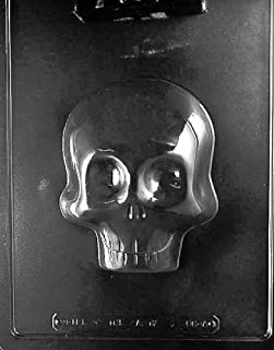 Cutdek Large 3D Skull Mold Chocolate Candy Plaster Day of The Dead Sugar Skulls