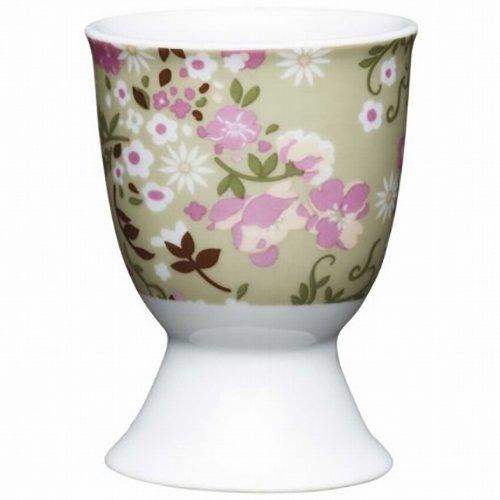 Kitchen Craft KCEGGFMEADOW Coquetier Floral Meadow désign en Porcelaine, Multicolore, 9 x 12 x 16 cm