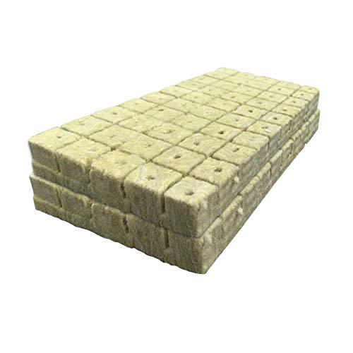 GeKLok Rockwool Grow Cubes Rockwool Starterstopfen für die Hydrokultur, ideal für Stecklinge, Klonen, Pflanzenvermehrung, Bodenlose Kultivierung - mit guter Luftdurchlässigkeit/Entwässerung