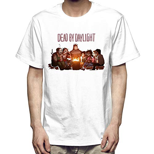 Dead by Daylight Camiseta Camiseta de Manga Corta con Estampado en Color sólido, Suelto, Suave, Color sólido, Diario. (Color : A01, Size : S)
