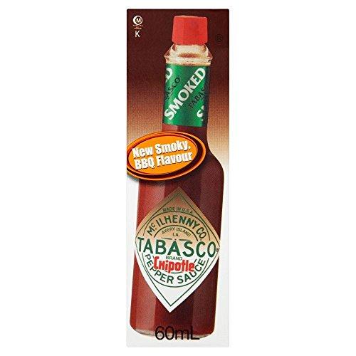 Tabasco Chipotle Sauce Geräucherte Red Jalapenos (60 ml) - Packung mit 2