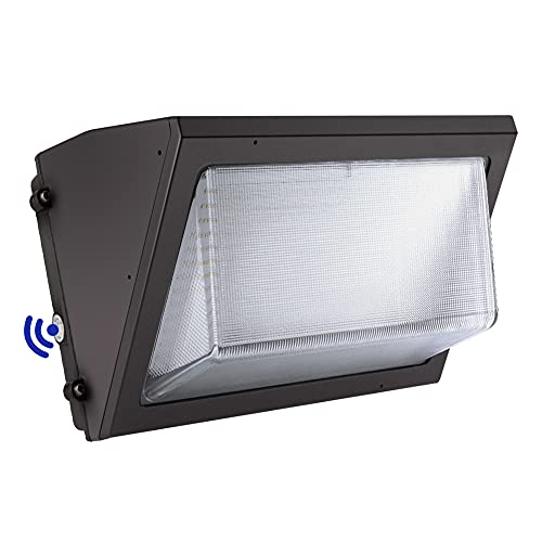 CINOTON LED Wall Pack Light 150W, 5000K Daylight LED Wall Pack with Dusk to Dawn Photocell, 7300 Lumen Waterproof IP65 Outdoor Commercial Lighting Fixture for Warehouses Parking Lot Entryways